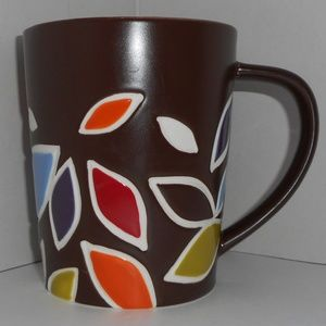 Starbucks Mug Brown Colorful Autumn Fall Leaves